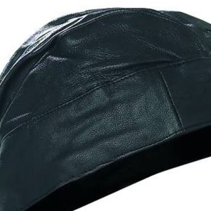 Diamond Plate Accessories - Diamond Plate™ Solid Genuine Leather Skull Cap